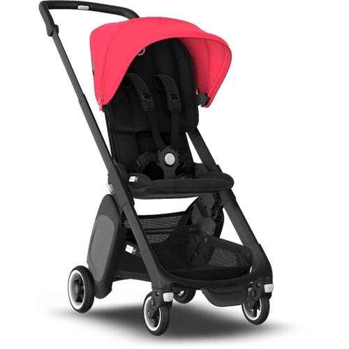 Cărucior pentru copii Bugaboo Ant, Black/Neon-Red