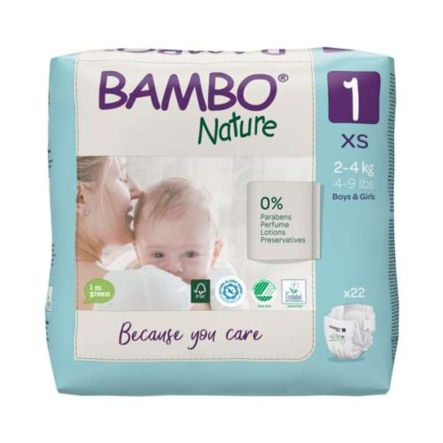 Scutece Bambo Nature Eco-Friendly mărimea 1, 2-4 kg