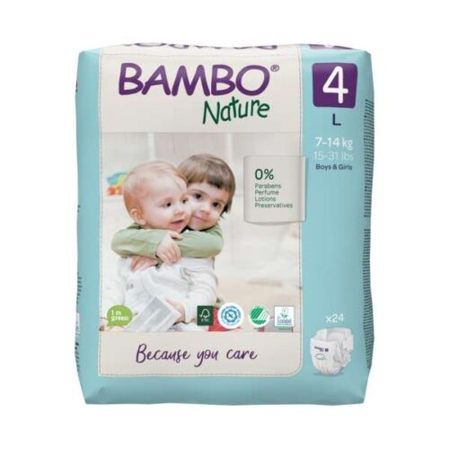 Scutece Bambo Nature Eco-Friendly mărimea 4, 7-14 kg, 1000019254