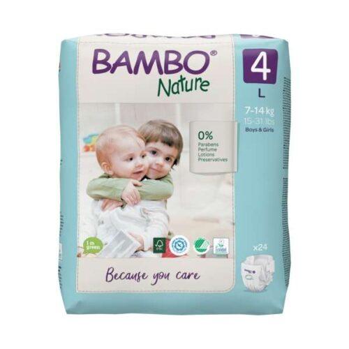 Scutece Bambo Nature Eco-Friendly mărimea 4, 7-14 kg, 1000019254