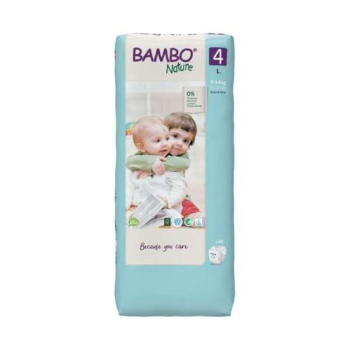 Scutece Bambo Nature mărimea 4, tall pack, 7-14 kg