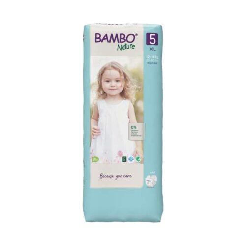 Scutece Bambo Nature Junior mărimea 5, tall pack, 12-18 kg