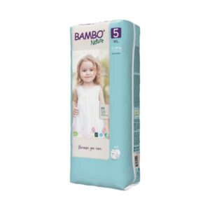 Scutece Bambo Nature Junior mărimea 5, tall pack, 12-18 kg